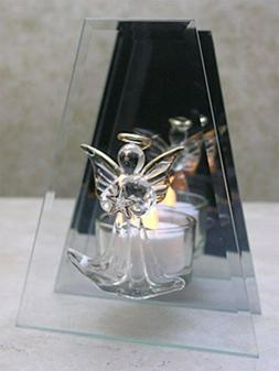 BANBERRY DESIGNS Memorial Candle Holder - Glass Infinity Can