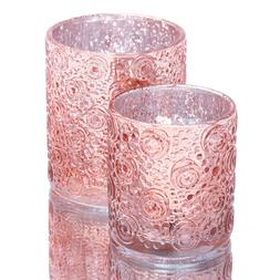 Richland Mercury Candle Holder Nadine Rose Gold Set of 6 Wed