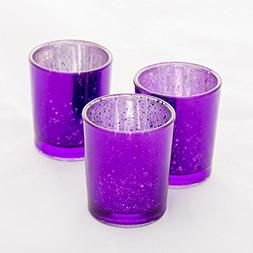 Richland Mercury Votive Candle Holders Purple Set of 12