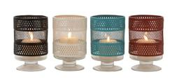 The Mesmerizing Metal Glass Candle Holder 4 Assorted