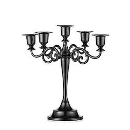Sziqiqi Metal Candle Holder 5-arms Candle Stand 27cm Tall We