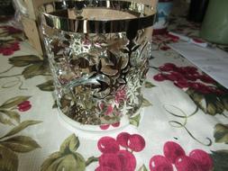 Yankee Candle METAL FROSTY Large Jar Candle Holder FREE SHIP