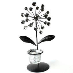 Resin Gem Metal Glass Tea Light Candle Holder Stand Centerpi