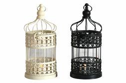 Metal Hanging Birdcage Candle Holder Fairytale Lantern Candl