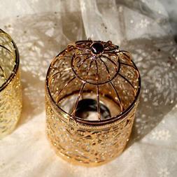 Metal Hollow Candle Holder Tealight Candlestick Hanging Lant