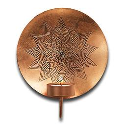 "Metal Illumination Wall Hanging T-light Holder Copper 10""x9"""