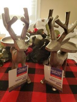 Better Homes and Gardens metal reindeer Pillar Candle Holder