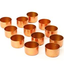 Koyal Wholesale Metal Tealight Candle Holder Cups, Rose Gold