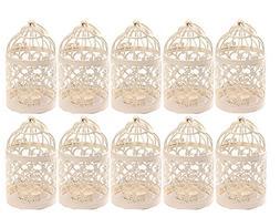 Qingsun 10Pack Metal Tealight Candle Holder Lanterns Creativ