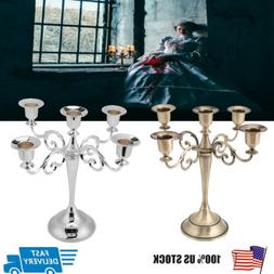 middle Ages Style  5 Arms Metal Candle Holder Alloy Sconce H