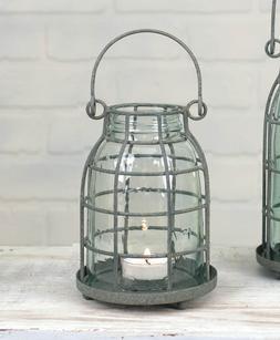Midget Pint - Mason Jar Candle Holder- Tealight Holder - Tab