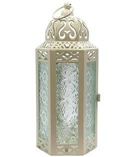 Vela Lanterns Mid-Size Table/Hanging Glass Hexagon Moroccan