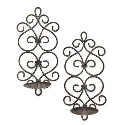 Modern Art Candle Sconces Scroll Work Candle Holder Wall Sco