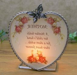 BANBERRY DESIGNS Mom Heart Candle Holder - Glass Candle-Hold