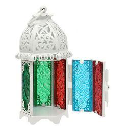 Vintage Moroccan Hollow Iron Lantern Tea Light Hanging Candl