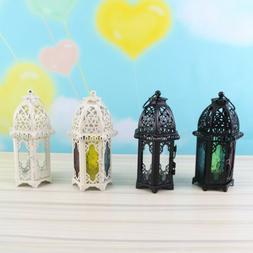Moroccan Style Glass Lantern Tea Light Candle Holder Wedding