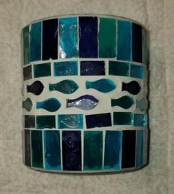 Mosaic Tile Candle Holder