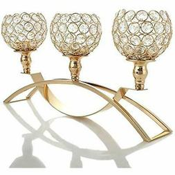 VINCIGANT Mother&39s Candleholders Day Gold Crystal Holders