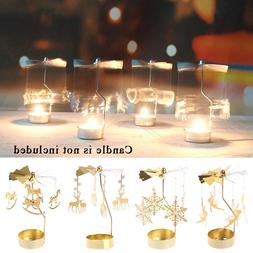 Multi-shape Metal Rotating Spinner Carousel <font><b>Candle<