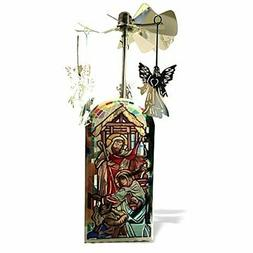 BANBERRY DESIGNS Nativity Candle Holder - Spinning Candle wi