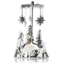 BANBERRY DESIGNS Nativity Candle Spinner - Laser Cut Plated