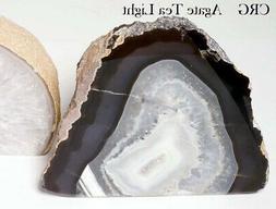Natural Agate Geode Tea Light Candle Holder