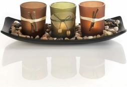Dawhud Direct Natural Candlescape Set, 3 Decorative Candle H