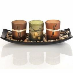 Dawhud Direct Natural Candlescape Set, 3 Decorative Candle H