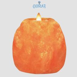 Natural Himalayan Salt Tea Light Candle Holder Lamp