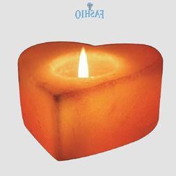 Natural Himalayan Salt Tea Light Heart Candle Holder Lamp