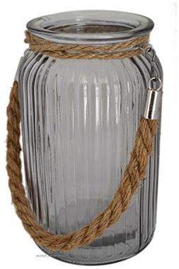"Large 7"" Nautical Glass Hurricane Candle Holder Lantern with"