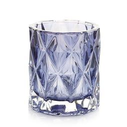 Yankee Candle Navy Fractal Glass Votive Candle Holder