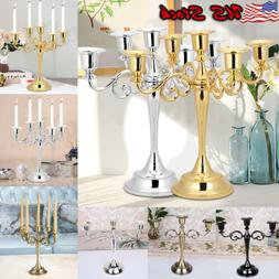 New 3/5 Arm Candle Holder Candelabra Stick Xmas Dinning Tabl
