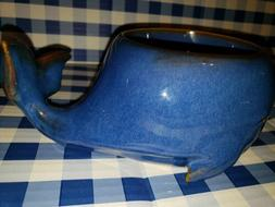 NEW Bath & Body Works  BLUE WHALE CERAMIC 3-wick Candle Hold