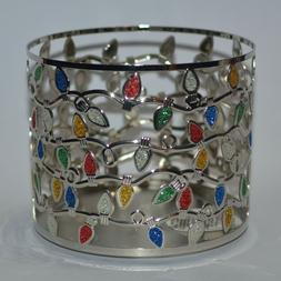 NEW BATH & BODY WORKS CHRISTMAS LIGHTS LARGE CANDLE HOLDER S