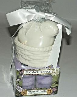 New Yankee Candle Bunny Basket Tea Light Candle Holder w Lil
