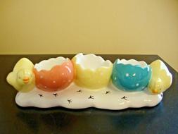NEW Yankee Candle Easter 3 Tea Light Holder Chicks & Eggs,Te