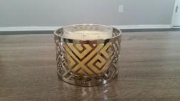 NEW Yankee Candle Greek Isle Large Chrome Jar/Pillar Candle