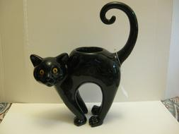 New Yankee Candle Halloween BLACK CAT Tea light Candle Holde