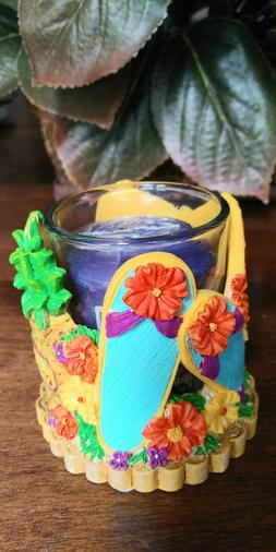 NEW * Yankee Candle * Hawaiian Shirt/ Flip Flops Beach  * Vo
