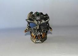 new highly detailed metal skull candle holder