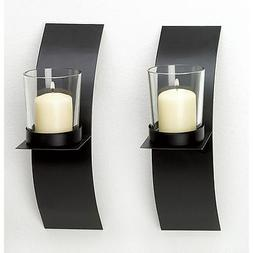 2pc Curved Sconce Candle Holder Set Modern Wall Kitchen Home