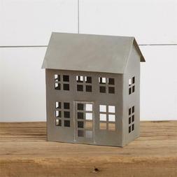New Primitive Rustic Farmhouse GALVANIZED METAL SALT HOUSE C