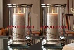 NEW TUSCAN LARGE SILVER HURRICANE CANDLE HOLDER MODERN  NICK