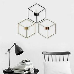 New Wall Mounted Geometric Tea Light Candle Holder Metal Can