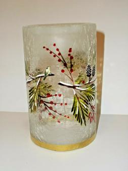 NEW YANKEE CANDLE WINTER SPARROW SM TEALIGHT CANDLE HOLDER F