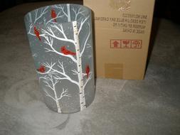 NIB Yankee Candle Blue Sky Cardinal Jar Candle Holder