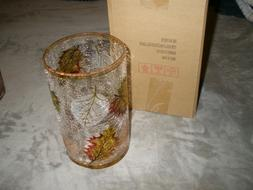 NIB Yankee Candle Multicolored Fall Leaves Jar Candle Holder