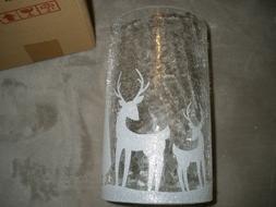 NIB Yankee Candle  Shimmering Forest Crackle Glass Jar Candl