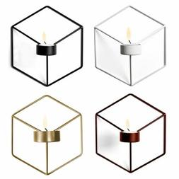 Nordic Style 3D Geometric Candlestick Metal Wall Candle Hold